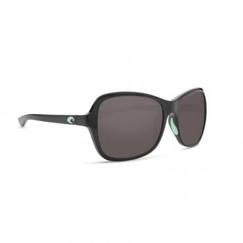 Очки поляризационные COSTA DEL MAR Kare 580P р. S цв. Shiny Black w/Mint Logos цв. ст. Gray Silver Mirror