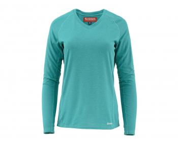 Футболка SIMMS Women's Drifter Tech LS Shirt цвет Aqua