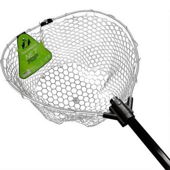 Подсачек TSURIBITO NET TRAP Fold c прозрачной сеткой, складной, длина 150 см, диаметр 46 см в интернет магазине Rybaki.ru