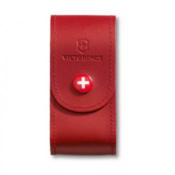 Чехол VICTORINOX для ножа 91 мм нат.кожа петля красный блистер