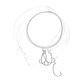 Поводок отводной ZETTECH 100% флюр. офсет.№ 6, 2,7 кг 120 см (5 шт.) в интернет магазине Rybaki.ru