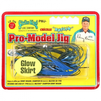 Бактейл STRIKE KING Pro-Glo Pro-Model Jig 14 г (1/2 oz) цв. black / blue