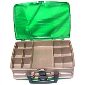 Ящик PLANO 1120-00 двухстороний с прозрачными крышками, 20 отсеков в интернет магазине Rybaki.ru