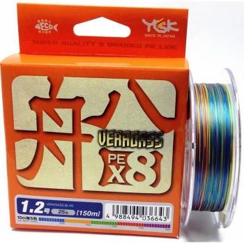 Плетенка YGK Veragass PEx8 200 м цв. Многоцветный # 0,6 в интернет магазине Rybaki.ru