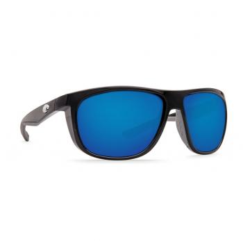 Очки поляризационные COSTA DEL MAR Kiwa W580 р. XL цв. Shiny Black цв. ст. Blue Mirror Glass