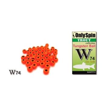 Головка вольфрамовая ONLY SPIN Trout Tungsten Ball 2,4 мм цв. Оранжевый (5 шт.)