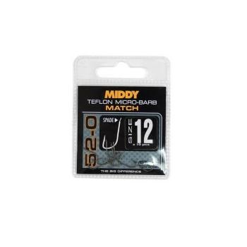 Крючок одинарный MIDDY T52-0 с тефлоновым покрытием (10 шт.) № 22 в интернет магазине Rybaki.ru