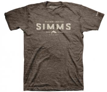 Футболка SIMMS Quality Heritage T-Shirt цвет Brown Heather