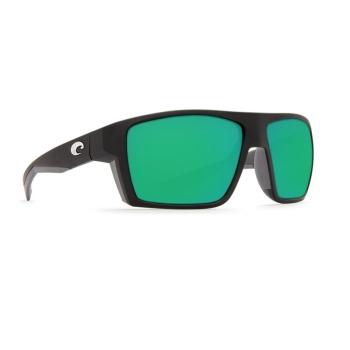 Очки поляризационные COSTA DEL MAR Bloke 580P р. XL цв. Matte Black + Matte Gray цв. ст. Green Mirror