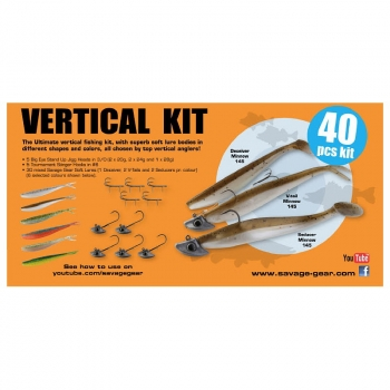Набор оснастки SAVAGE GEAR Vertical Pro Pack kit (40 шт.)