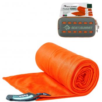 Полотенце SEA TO SUMMIT Pocket Towel р. L цв. Orange
