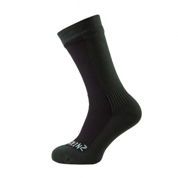 Носки SEALSKINZ Hiking Mid Mid Sock цвет Black / Racing Green в интернет магазине Rybaki.ru