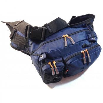 Сумка GEECRACK GEE602 Hip Bag Type-2 код цв. 008 цв. blue в интернет магазине Rybaki.ru