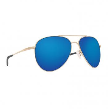 Очки поляризационные COSTA DEL MAR Cook 580P р. L цв. Shiny Gold цв. ст. Blue Mirror
