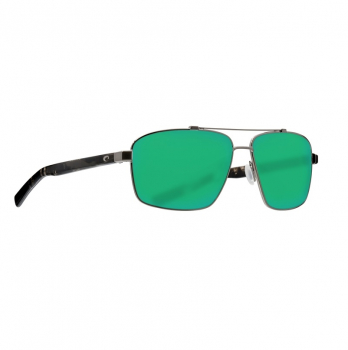 Очки поляризационные COSTA DEL MAR Flagler 580G р. L цв. Brushed Gunmetal цв. ст. Green Mirror