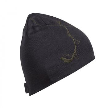 Шапка BERGANS Skilift шапка цвет Solid Charcoal / Seaweed