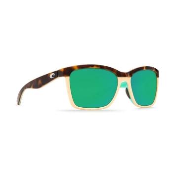 Очки поляризационные COSTA DEL MAR Anaa 580P р. M цв. Shiny Retro Tort/Cream/Mint цв. ст. Green Mirror