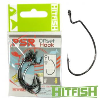 Крючок офсетный HITFISH PSR Offset Hook № 1/0 (7 шт.)