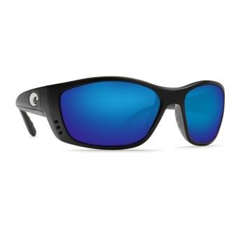Очки COSTA DEL MAR Fisch 580 GLS р. XL цв. Matte Black Globai Fit цв. ст. Blue Mirror