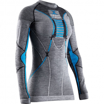 Термофутболка X-BIONIC Apani4.0 Merino Shirt Round Neck Lg Sl W цвет Черный / Серый / Розовый