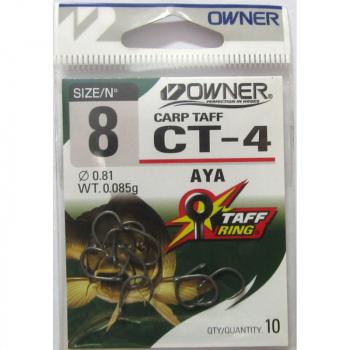 Крючок одинарный OWNER 53274 CT-4 Carp Taff № 2 (7 шт.)