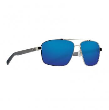 Очки поляризационные COSTA DEL MAR Flagler 580G р. L цв. Shiny Silver цв. ст. Blue Mirror