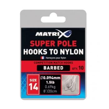 Готовая оснастка MATRIX Hooks to Nylon Super Match № 18 0,104 мм в интернет магазине Rybaki.ru