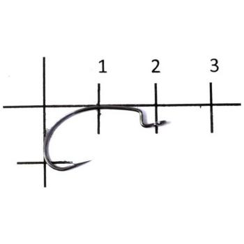 Крючок офсетный DECOY Kig Hook Worm 17 № 1 (9 шт.)