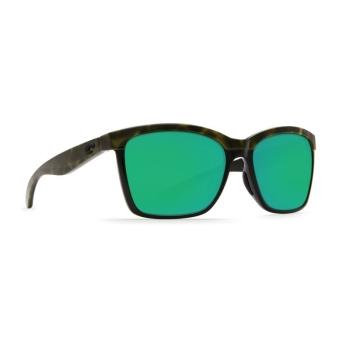 Очки поляризационные COSTA DEL MAR Anaa W580 р. M цв. Shiny Olive Tortoise on Black цв. ст. Green Mirror Glass