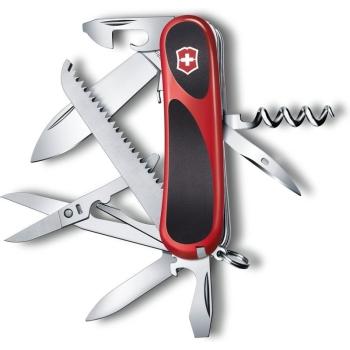Нож VICTORINOX EvoGrip S17 красный/черный 15 функций 85 мм карт.коробка