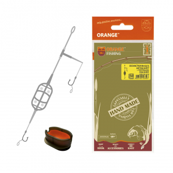 Оснастка карповая ORANGE #42 1 Classic Flat Method Leadcore + Mould 50 г