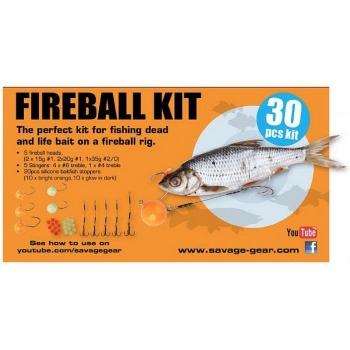 Набор оснастки SAVAGE GEAR Fireball Pro Pack Kit (30 шт.) в интернет магазине Rybaki.ru