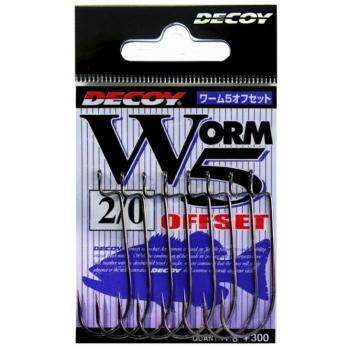 Крючок офсетный DECOY Worm 5 Offset № 4/0 (6 шт.)