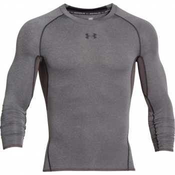 Футболка UNDER ARMOUR HeatGear Armour Compression LS цвет Carbon Heather / Black