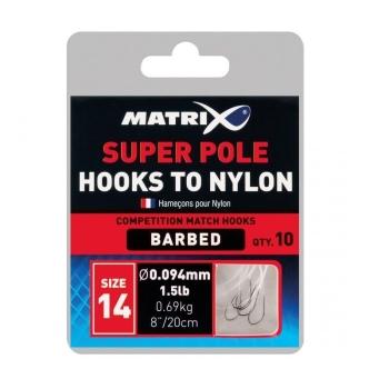 Готовая оснастка MATRIX Hooks to Nylon Super Match № 20 0,104 мм в интернет магазине Rybaki.ru