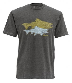 Футболка SIMMS Tightlines Trout SS T-Shirt цвет Earth Heather