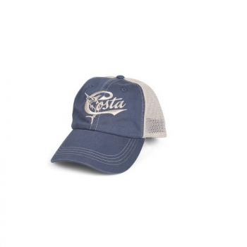 Бейсболка COSTA DEL MAR Retro Trucker Hat цвет Slate Blue/Stone W/Snap Closure