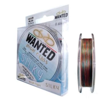 Плетенка WANTED Silky 8X 150 м цв. разноцветный 1.0 PE в интернет магазине Rybaki.ru
