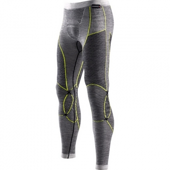 Термобрюки X-BIONIC Apani Merino By Man Uw Pants Long цвет Черный / Серый / Желтый в интернет магазине Rybaki.ru