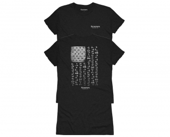 Футболка SIMMS Women's USA Flies T-Shirt цвет Black