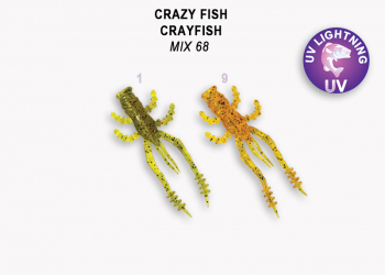 "Рак CRAZY FISH Crayfish 1,8"" (8 шт.) зап. кальмар, код цв. M68"