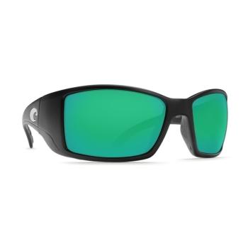 Очки поляризационные COSTA DEL MAR Blackfin W580 р. L цв. Matte Black Global Fit цв. ст. Green Mirror Glass