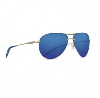 Очки поляризационные COSTA DEL MAR Helo 580P р. L цв. Matte Champagne + Deep Blue/Turquoise цв. ст. Blue Mirror