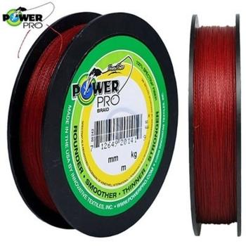 Плетенка POWER PRO 92 м цв. Red (Красный) 0,06 мм в интернет магазине Rybaki.ru