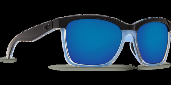 Очки поляризационные COSTA DEL MAR Anaa 580P р. M цв. Shiny Black/Crystal/Lt Blue цв. ст. Blue Mirror