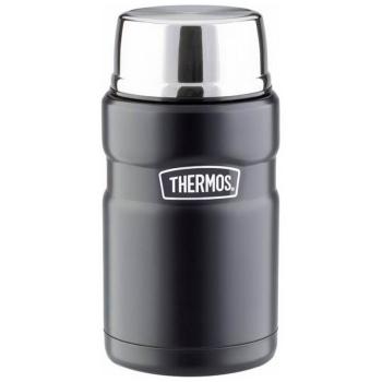 Термос THERMOS SK 3020 BK Matt Black для еды с ложкой (тепло 10 ч, холод 12 ч) 0,71 л цв. Чёрный в интернет магазине Rybaki.ru