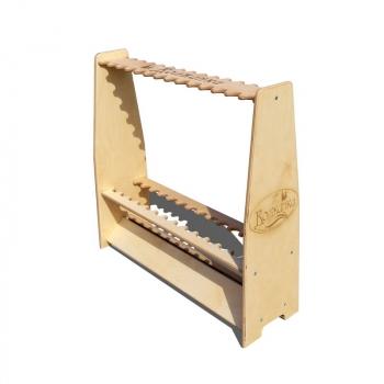 Стойка для удилищ ВОЛЖАНКА разборная, деревянная на 28 удилищ в интернет магазине Rybaki.ru