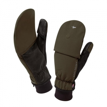 Варежки SEALSKINZ Outdoor Sports Mitten цв. Olive р. L в интернет магазине Rybaki.ru
