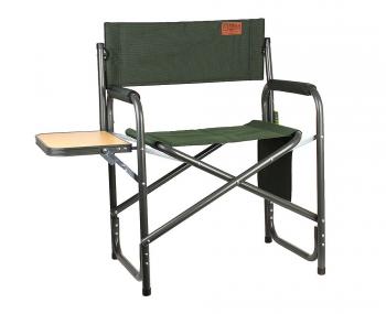 Кресло CAMPING WORLD Mister с боковым откидным столиком цв. зеленый в интернет магазине Rybaki.ru