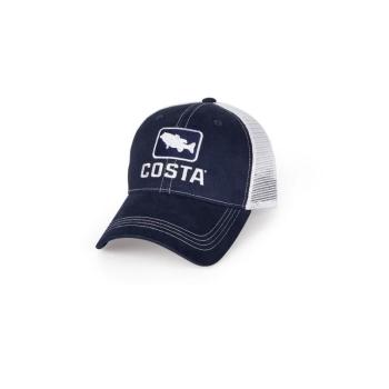 Бейсболка COSTA Bass Trucker Hat цв. Navy / White  в интернет магазине Rybaki.ru